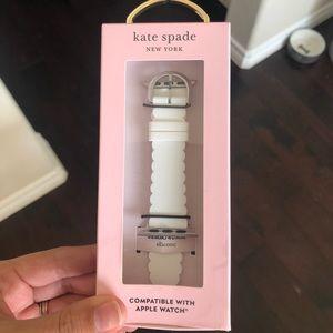 White Kate Spade Apple Watch Strap